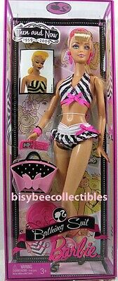 Barbie BATHING SUIT BARBIE Doll P6508 Then and Now 50th ANNIVERSARY 2009 Mattel