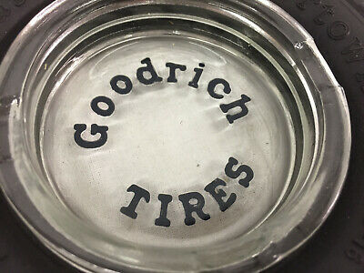 Goodrich Silvertown - Embossed Glass Insert - Tire Ash Tray