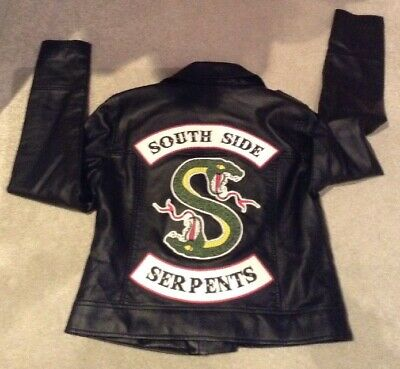 Riverdale Girls / Ladies Primark Faux Leather Jacket Size 10 South Side Serpents