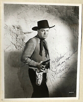 LYLE TALBOT Signed Western Photo with Inscription TV Westerns Dated 1988