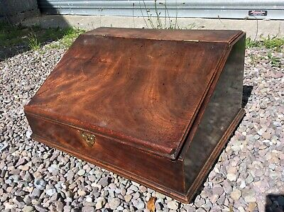 Antique Victorian Desk Top Till Stand Writing Scribes Desk Wooden Mahogany