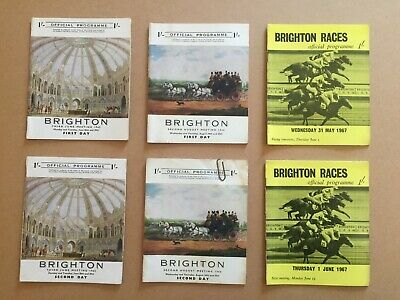 Collection of 27 vintage racecards from Brighton racecourse from 1965 to 1990