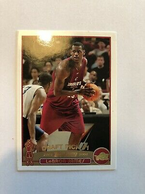 Lebron James Rookie Card Topps Gold Collection Not Mint