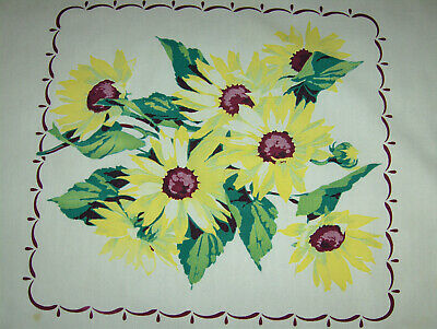 Vintage Tablecloth - Wilendur - Sunflowers!