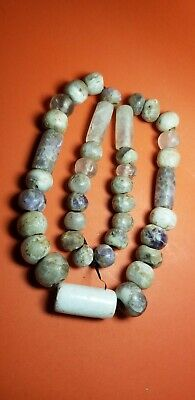 Pre-Columbian teotihuacan amethyst ang quartz necklace