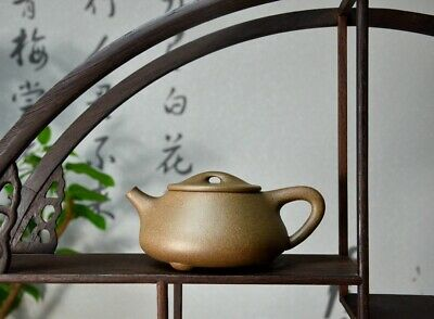 "100% High-end Clay!Chinese Yixing Zisha Clay Handmade ""Jingzhou Shipiao"" Teapot"