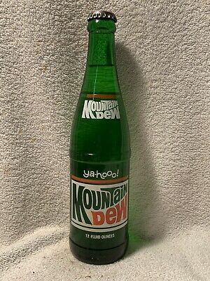 RARE FULL 12oz MOUNTAIN DEW YA-HOO! ACL SODA BOTTLE