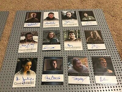 Game of Thrones Autograph 12 Card Lot  Dean Charles Chapman Rittenhouse auto