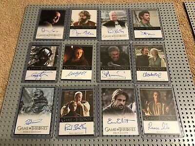Game of Thrones Autograph 12 Card Lot Ian Whyte Rittenhouse auto
