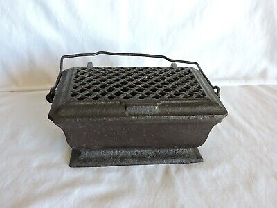 Vintage Cast Iron Foot Warmer with Hinged Lid