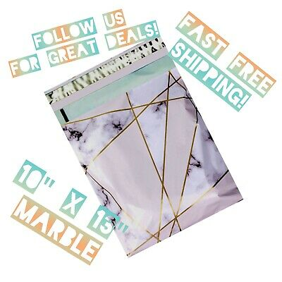 upaknship 10x13 Marble designer poly mailers shipping envelopes