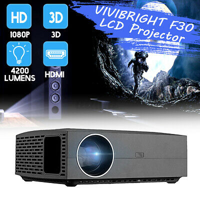 VIVIBRIGHT F30 LCD Projector 4200 Lumens Full HD 1080P Home Theater Video