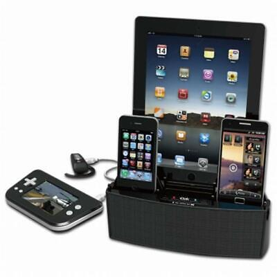 5 Port Smart Phone Charger with Bluetooth Speaker and Speaker Phone