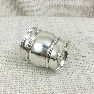 Christofle Silver Plate Napkin Ring Holder Vintage French Silverware