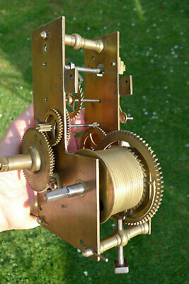 Antique ACT of PARLIAMENT TAVERN rare clock movement month duration, gorgeous!!
