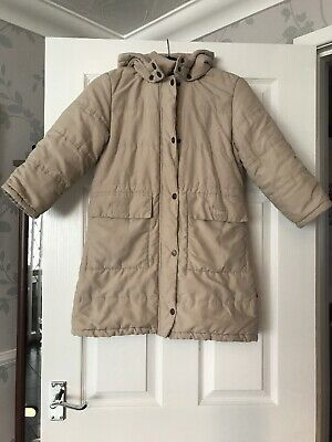 Chicco Blues Girls Padded Hooded Winter Coat Fleece Lined Beige Age 5-6 Vgc