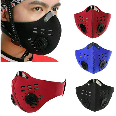 Outdoor Cycling Masks Face Mask Activated Carbon Anti-PM2.5 Shield with Filter