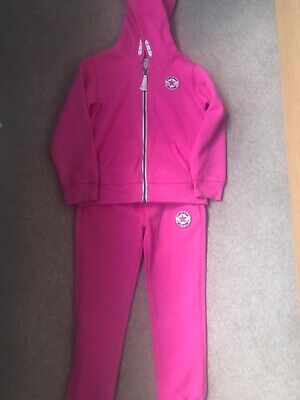 Girls converse tracksuit pink age 5-6