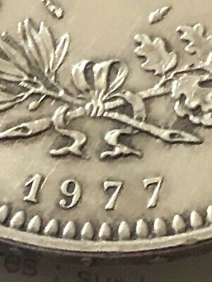 Piece 50 Francs Argent Hercule 1977 TTB FRENCH STERLING SILVER COIN