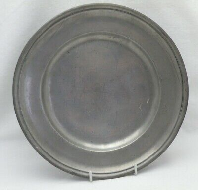 Antique Georgian Pewter Plate 21.5 cm diameter With Touch Marks