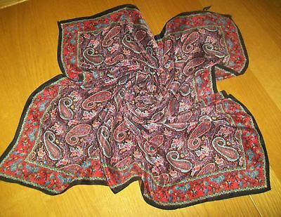 ART OF THE SCARF VINTAGE SILK SCARF silk headscarf PAISLEY DESIGN very pretty