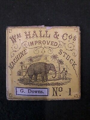 Antique sewing needles in packet Wm. Hall &co. No.1 Studley Alcester