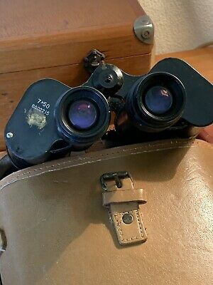 WW2 RUSSIAN 7x50 MILITARY BINOCULARS 1939 REFURB 1950 & CASE