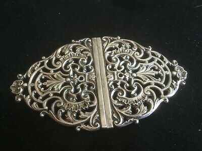 Antique silver buckle Chester Stokes and Ireland 1898 large                O5305