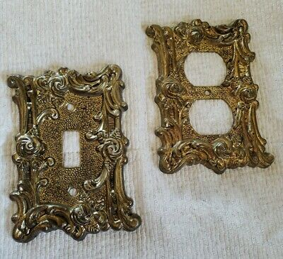 Vntg 1967 American Tack & Hardware Switchplate & Outlet Recepticle Covers Roses