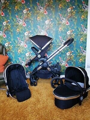 ICandy Peach 3 black magic 2 Double with 2 seats 1 carry cot