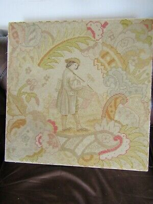 Superb Antique 19Th Century Large Needle Point Tapestry Sampler Picture