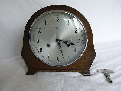 1950s Smiths Enfield Chiming Mantle Mantel Clock In Working Order.