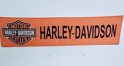 Harley-Davidson  Bar & Shield Logo Banner Orange