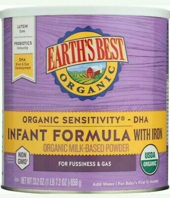 Earth's Best Organic reduced Lactose Sensitivity Infant baby Formula