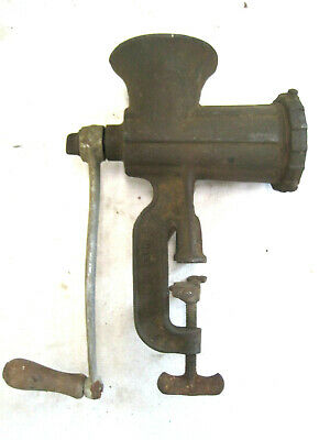 Vintage Keystone No. 100 Hand Crank Meat Grinder Food Chopper