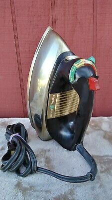 Vintage 1960s GE General Electric Chrome Steam Iron H9F63 Tested Working Great