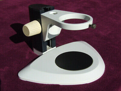 """Microscope stand with 88.5mm 3½"""" hole with focus rack."""