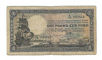 South Africa - 1942, 1 Pound