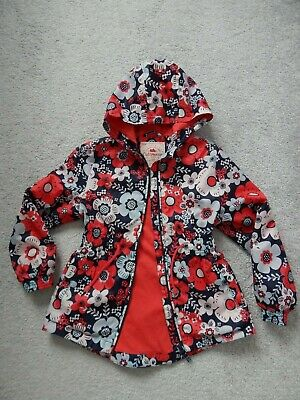 GEORGE Girls Light Weight Shower Proof Coat Aged 7-8 Years.