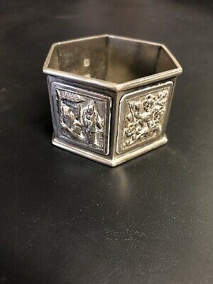 Chinese Silver Embossed Napkin Ring