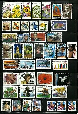 43 UNITED STATES USED  STAMPS  YEARS 1996  2 SETS,  Lot US-3036