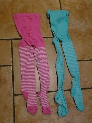 Two pairs of striped tights for 5-6 year old girl