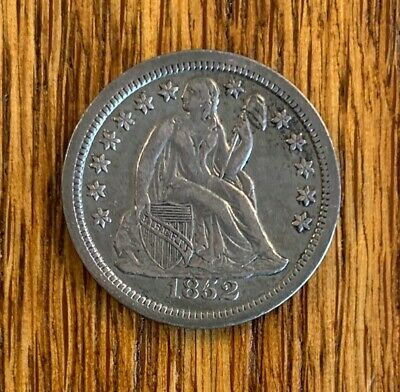 1852 LIBERTY SEATED SILVER Dime! F/G.