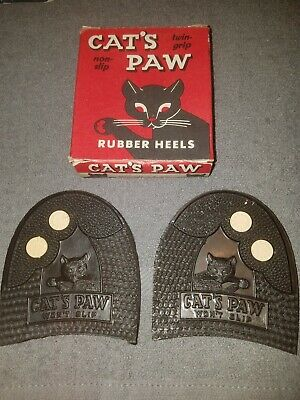Vintage Cat's Paw Rubber Heels
