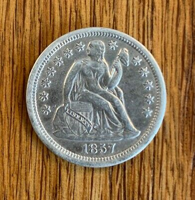 1857-O LIBERTY SEATED SILVER Dime! XF/AU. Nice condition!