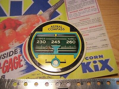 "Kix Cereal ""Space-O-Gage"" Astral Compass  Premium General Mills"