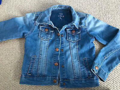 girls denim jacket age 8-9