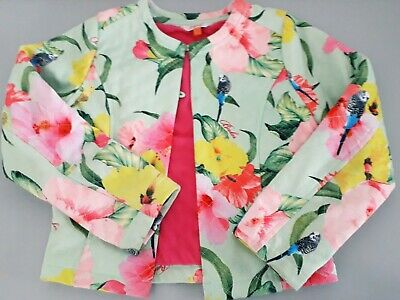 Designer Summer Clothes Ted Baker Girl Gorgeous Floral Print Jacket Age 8-9y
