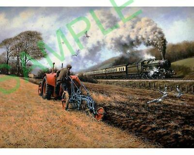 GWR Castle class loco Fordson N Tractor Ransomes plough