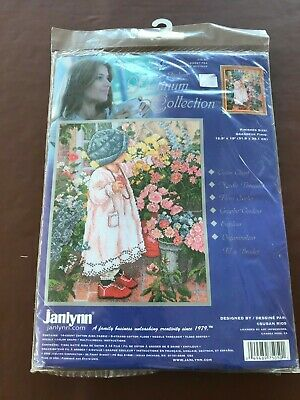 Janlynn Platinum Collection Sweet Pea Counted Cross Stitch Kit